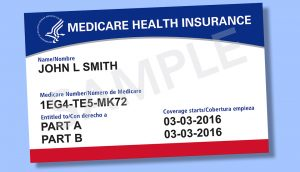 Medicare card - red, white, and blue