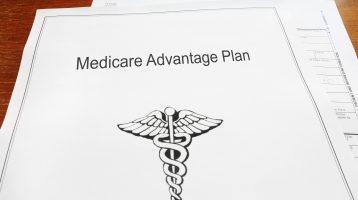 Medicare Advantage retirement healthcare document on a desk